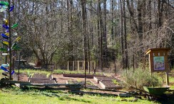 Organic garden at the Louise Kreher Forest Ecology Preserve. (Erin Harney/Alabama NewsCenter)