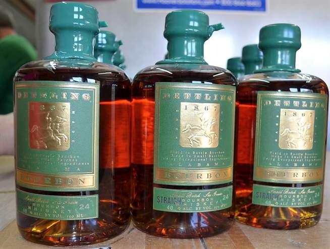 Dettling just began bottling Alabama straight bourbon. (Michael Tomberlin / Alabama NewsCenter)