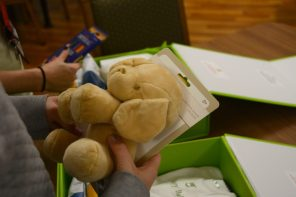 Contents of Cheeriodicals boxes bring automatic cheer. (Karim Shamshi-Basha/Alabama NewsCenter)
