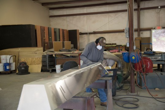 """""""Making Alabama"""" being produced at Southern Custom Exhibits in Anniston. (Brittany Faush, AlabamaNewsCenter)"""