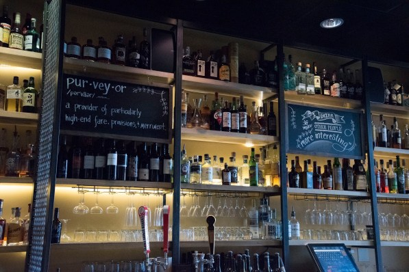 Purveyor brands itself as a provider of fine things, many of which are hard to find elsewhere, from the creative dishes to carefully chosen wines and spirits. (Brittany Faush/Alabama NewsCenter)