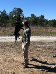 Some of the kids got to work with hunting dogs. (contributed)