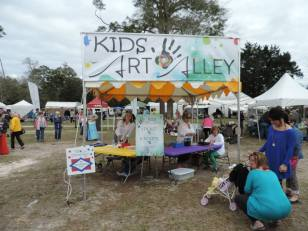 Kids' Art Alley offers young festival goers plenty of hands-on fun. (Contributed)