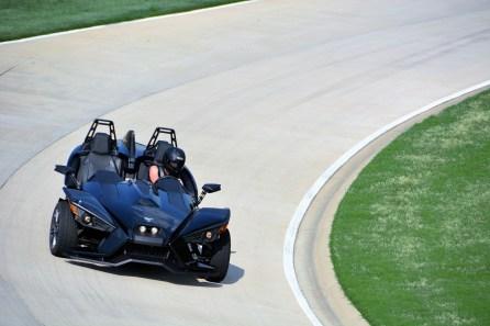 A Polaris Slingshot on Barber's Proving Ground track. (Barber Motorsports Park and Museum)