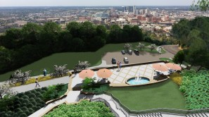 A rendering shows the new Kiwanis Centennial Park as seen from Vulcan. (contributed)