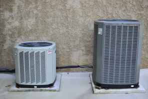 Heat pumps located outside of the home. (file)