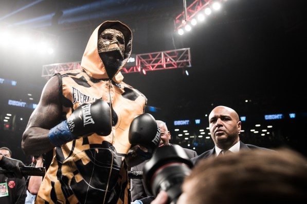 Deontay Wilder makes his entrance. (Amanda Westcott/Showtime)
