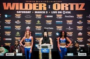 Alabama's Deontay Wilder will face Luis Ortiz in New York March 3. (Amanda Westcott/Showtime)