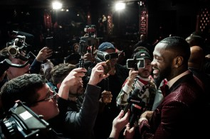 Deontay Wilder talks to the media at a press conference in New York March 1. (Amanda Westcott/Showtime)