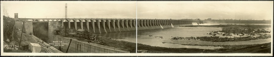 Wilson Dam, Muscle Shoals, April 11, 1926. (Photograph by O.T. Ericson, Library of Congress, Prints and Photographs Division)