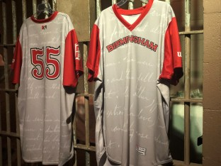 "The Birmingham Barons' jerseys containing text from Martin Luther King Jr.'s ""Letter from Birmingham Jail."" (Hope Finley/Birmingham Barons)"
