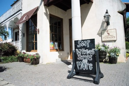 Fairhope Soap Company is in downtown Fairhope. (Brittany Faush / Alabama NewsCenter)