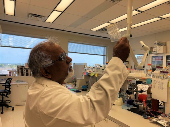 His own infant daughter's three-day wait for a diagnosis helped inspire Dr. Krishnan Chittur's work on GeneCapture's new rapid infection diagnosis method. (contributed)