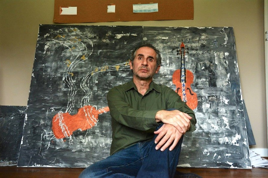 Karim Shamsi-Basha has created paintings in honor of Violins of Hope coming to Birmingham and is exhibiting them along with art work created from his photographs in Israel. (Dury Shamsi-Basha / Alabama NewsCenter)