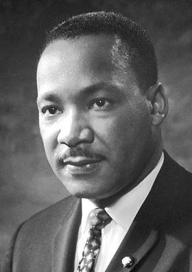 Martin Luther King, 1964. (Nobel Foundation, Wikipedia)
