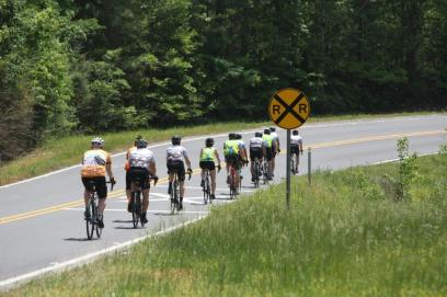 Cyclists depart from Alabama Power Company headquarters at 9 a.m. Friday, April 20 on a 78-mile supported ride on beautiful Alabama backroads to Lay Dam. (Meg McKinney)