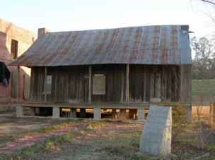 """The childhood home of two-term Alabama governor James """"Big Jim"""" Folsom Sr. in Elba, Coffee County. The structure sits next to the old county jail. (From Encyclopedia of Alabama, photograph by Jimmy Emerson)"""