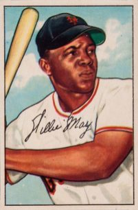 Willie Mays, 1952. (Bowman, Heritage Auctions, Wikipedia)