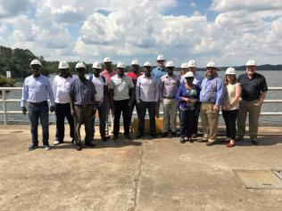 Utility executives from Zambia toured Alabama Power's Lay Dam to learn best practices when it comes to hydroelectricity risk management. (Ike Pigott / Alabama NewsCenter)