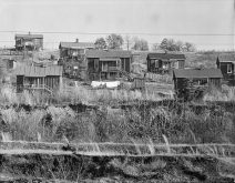 Alabama miners' houses near Birmingham, December 1935. (Photograph by Walker Evans, Library of Congress, Prints and Photographs Division)