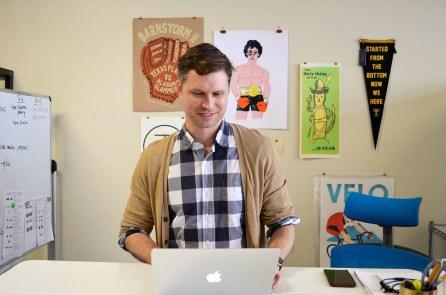 Bradley Dean hard at work. (Anne Kristoff/Alabama NewsCenter)