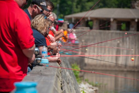 Exceptional Anglers' annual Gone Fishin', Not Just Wishin' event is fun for students and volunteers alike. (Billy Brown/Alabama NewsCenter)
