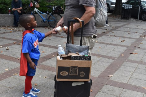 Austin Perine has a simple reason for wanting to feed homeless people: because they're hungry. (Karim Shamsi-Basha/Alabama NewsCenter)