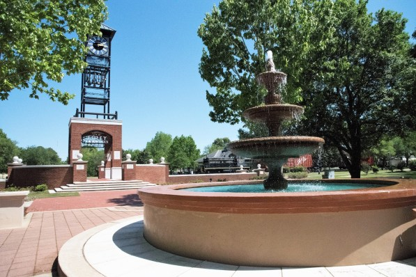 Centennial Park Plaza is an ideal spot for outdoor events. (Brittany Faush/Alabama NewsCenter)