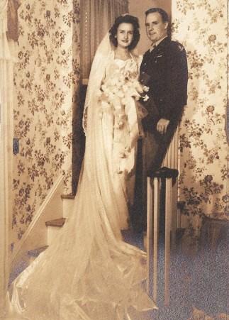 Marnie DeHaven married Peter J. Stewart on Nov. 11, 1944 (Photo/Courtesy the Stewart family)
