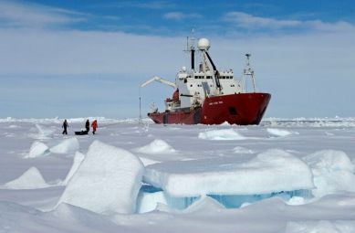 For more than a decade, satellites have been recording massive ice loss and rapid change in the Thwaites Glacier area in west Antarctica. Now an international team of scientists will try to get a better idea of how soon the glacier could begin to collapse, raising sea levels substantially. (British Antarctic Survey)