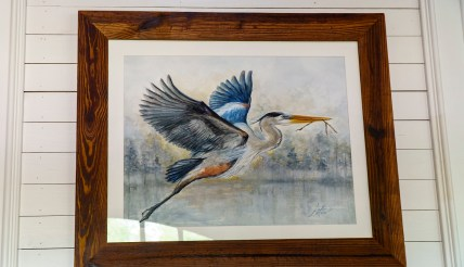 The Alabama outdoors is artist Andrew Lee's subject, but it's one that encompasses much diversity. (Mark Sandlin/Alabama NewsCenter)