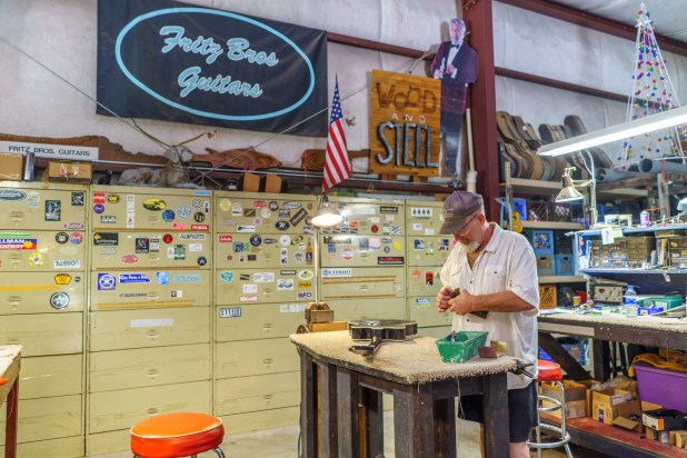 After living in Nashville and California for years, Roger Fritz came back to Alabama and opened Fritz Brothers Guitars in Fairhope. (Mark Sandlin/Alabama NewsCenter)