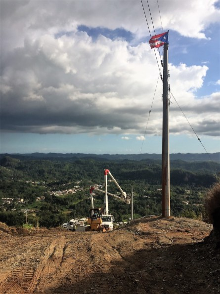 Line crews work to restore power in Puerto Rico. (file)