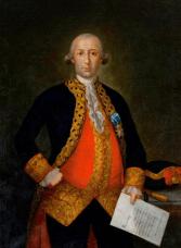 Portrait of General Bernardo de Gálvez, c. 1783-1784. (Painting by Mariano Salvador Maella, Wikipedia)