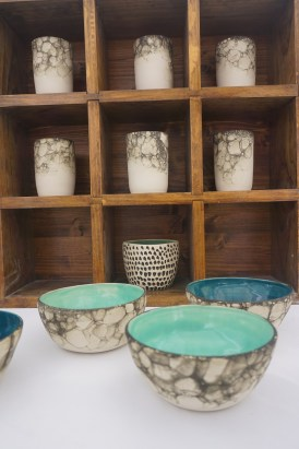 Lana Hobbs loves Alabama's rich pottery tradition, but her style is distinctly modern. (Erin Harney/Alabama NewsCenter)