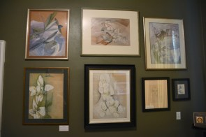 A collection of Zelda Fitzgerald's paintings is among the museum's rare exhibits. (Karim Shamsi-Basha/Alabama NewsCenter)
