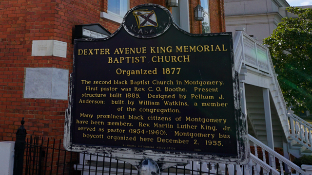 The Rev. Martin Luther King Jr. was pastor at Dexter Avenue Baptist from 1954 until 1060. (Erin Harney/Alabama NewsCenter)