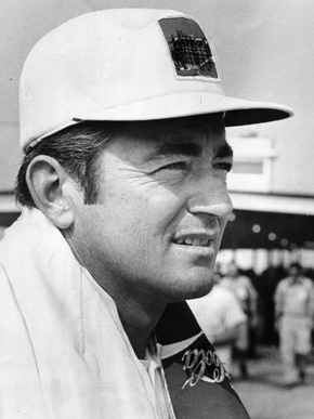 """Robert Arthur """"Bobby"""" Allison (1937- ) was a successful NASCAR driver, one of the original """"Alabama Gang"""" that included brother Donnie Allison and Red Farmer. In 1998, NASCAR named Bobby Allison one of its 50 greatest drivers. His career included 84 NASCAR victories and he has been inducted into the International Motorsports Hall of Fame and the Alabama Sports Hall of Fame. (From Encyclopedia of Alabama, photograph from The Birmingham News)"""