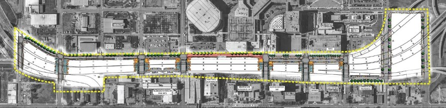 A map of the proposed CityWalk BHAM. (contributed)