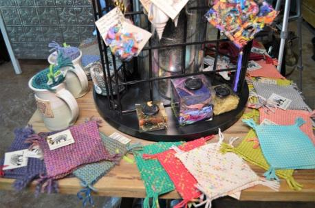 Clara's Loom sells finished handwoven items as well as yarn, fibers and equipment for those who weave. (Michael Tomberlin / Alabama NewsCenter)