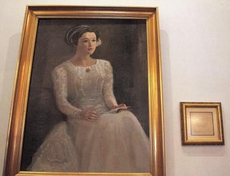 A portrait of Celeste Pillow's great-grandmother, Odette, who gave the restaurant its name. (Brittany Faush/Alabama NewsCenter)