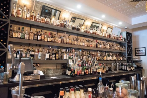 The bar at Odette serves inventive cocktails and a huge selection of bourbons. (Brittany Faush/Alabama NewsCenter)
