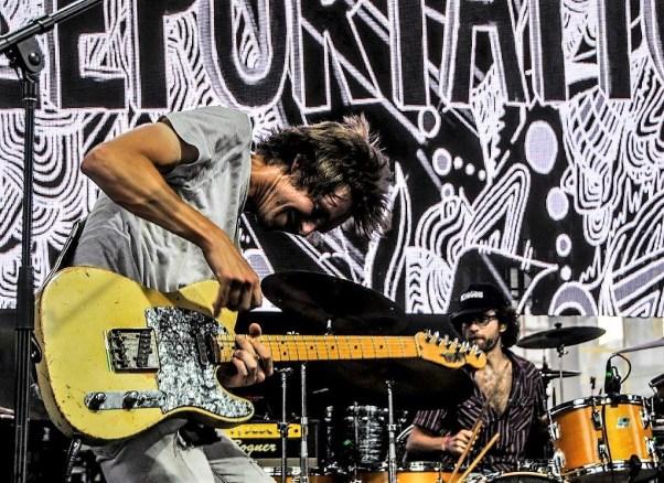 Morning Teleportation performs Sunday at Sloss Fest 2018 in Birmingham. (Billy Brown / Alabama NewsCenter)