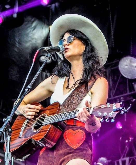 Nikki Lane performs Sunday at Sloss Fest 2018 in Birmingham. (Billy Brown / Alabama NewsCenter)