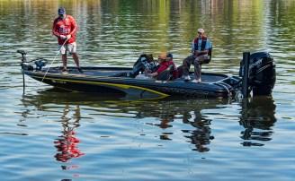 Veterans fish during a day at Lake Logan Martin. (Bernard Troncale/Shorelines)
