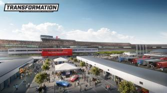The new Garage Fan Zone Experience is part of the Talladega Superspeedway Transformation project. (DLR Group)