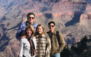 Hoover's Ziven Fowler, right, is pictured at the Grand Canyon with his adoptive family -- father Rob, mother Anna and sister Sasha. (Contributed)