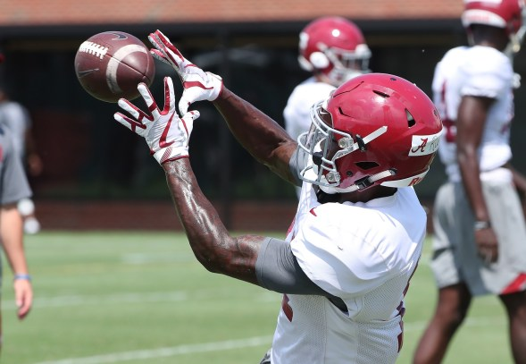 Alabama wide receiver Henry Ruggs III should be at least among the top three wide receivers in the NFL Draft this year, Kiper says. (Kent Gidley/University of Alabama Athletics)