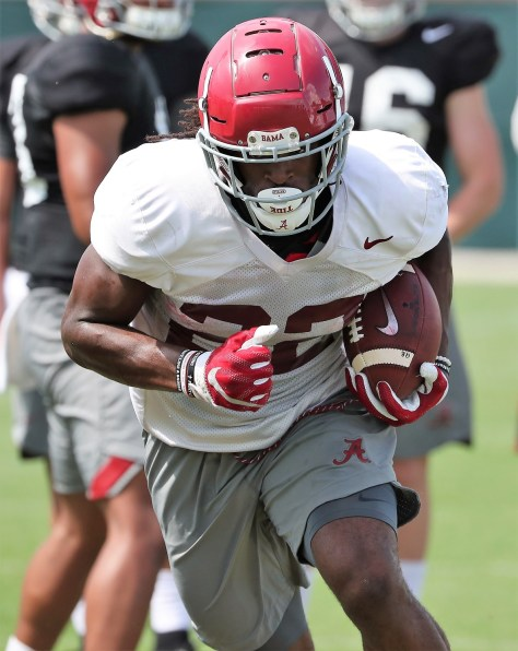 Alabama runningback Najee Harris is working his way back from an injury. (Kent Gidley/University of Alabama Athletics)