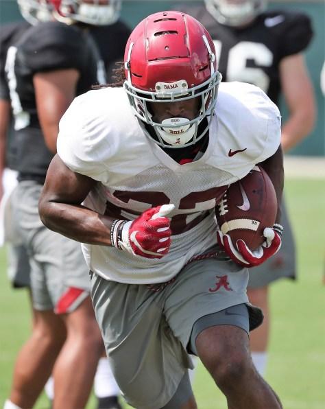 Alabama runningback Najee Harris is working his way back from an injury. (Kent Gidley/University of Alabama Athletics)